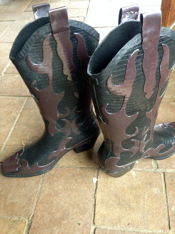 COWBOY Gummistiefel / / Kautschuk Cowboystiefel western / / | Etsy