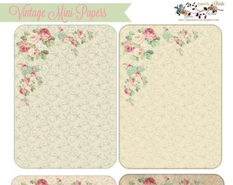 Vintage Mini Background / Mini Papers