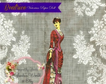 Beatrice Victorian Paper Doll