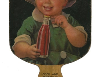 Vintage Soft Drink Paper Fan