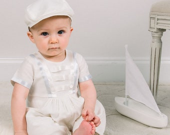 baby sunsuit romper Ready to ship baby playsuit christening outfit sz 03m white bubble gauze baptismal baby sunsuit whiteromper