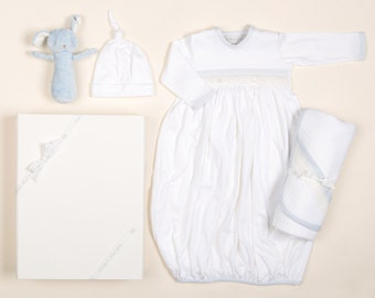 126c9f5fc6f8 Newborn Boy Gift Set 'Harrison' | Boys Newborn Gown Outfit | Baby Boy Take  Me Home Outfit | Baby Gifts | Newborn Gift Box Set | Newborn Gown
