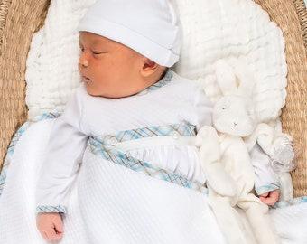 18c8a05ec011 Bringing Home Baby Boy Gown Set   Baby Boy Cottons Newborn Gowns   Baby Boy  Cotton Gowns   Newborn Boys Layette Gown   Bringing Home Baby