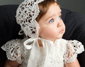 Baby Girl Lace Bonnet  Lola   400fc3b6ecb