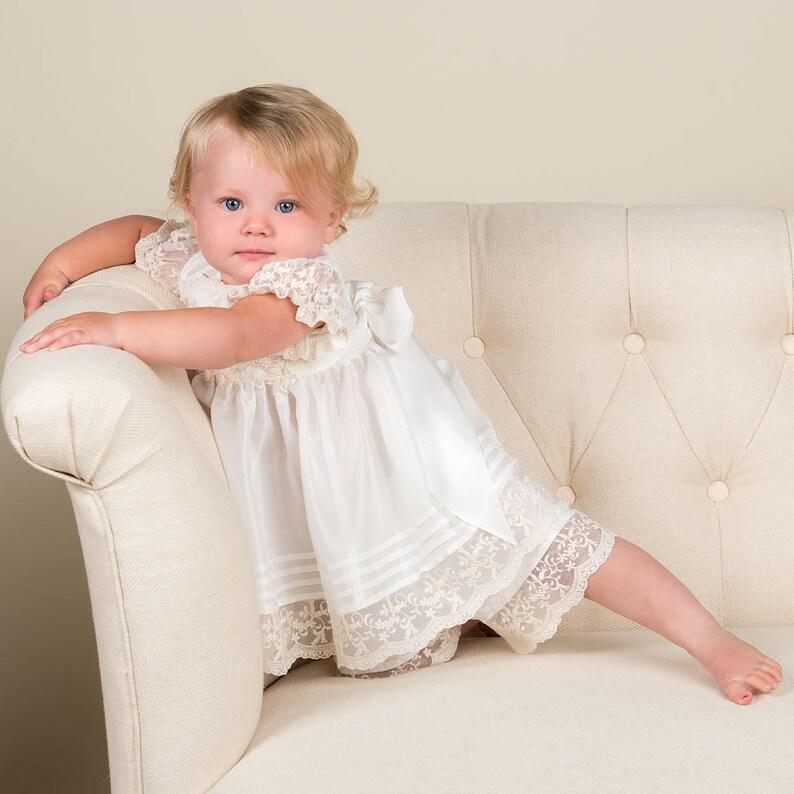 1edfba586 Christening Dress for Girls 'Jessica' Silk Baby | Etsy