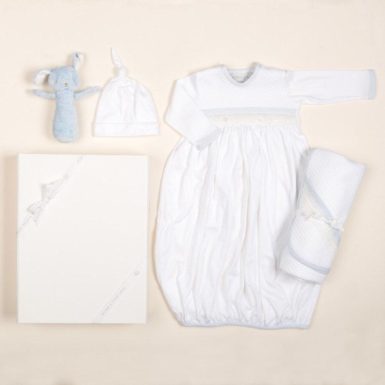 aaa23e07786b Newborn Boy Gift Set 'Harrison' Boys Newborn Gown   Etsy