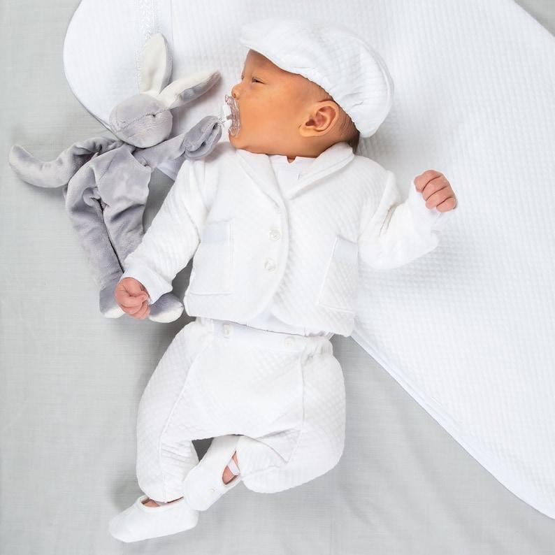 9bba322d07d1 Boys Christening Outfit  Elijah  Newborn White