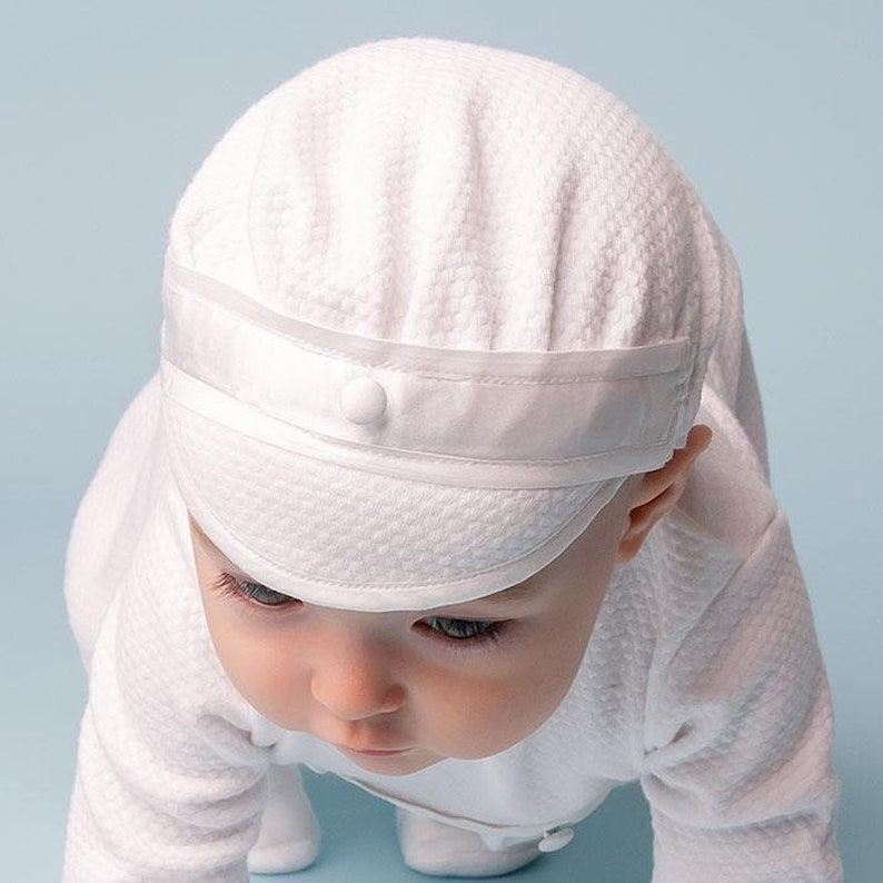 4d7c6f0ccbe Baby Boy Hats White Cotton Hat Baby Boy Dress Hats Baby