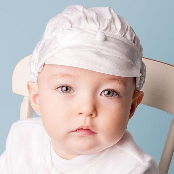 5d044363e5e Baby Boy Christening Hats White Silk Baby Hat Baby Boy