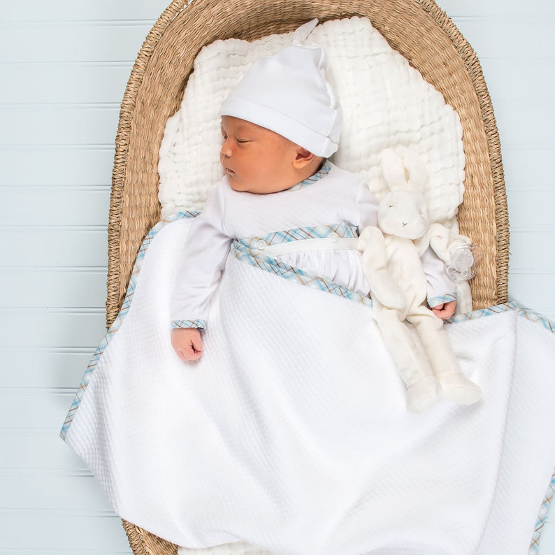 7902daf122ac Bringing Home Baby Boy Gown Set Baby Boy Cottons Newborn   Etsy