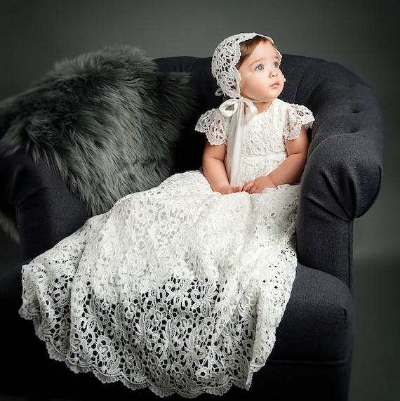 Cinderella Christening Gowns Girls: Lola Lace Baptism Gown Girls Lace Christening Gowns Baby