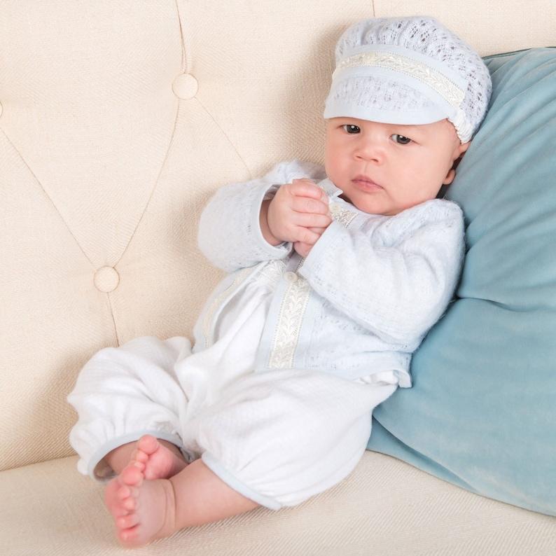 f2d4c98ff Baby Boy Christening Jumpsuit Set 'Harrison'   Etsy