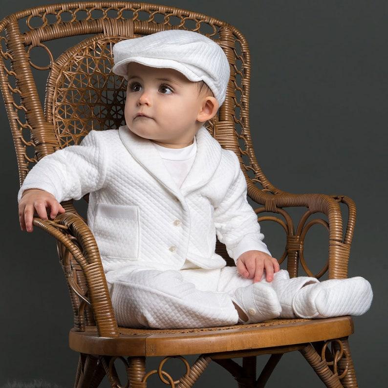 544782d47 Boys Christening Outfit  Elijah  Boys White Baptism