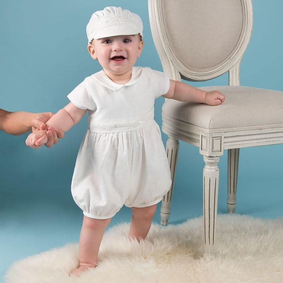 ef80ae0c1 Baby Boys Baptism Outfit  Henry  Linen Boys Baptism