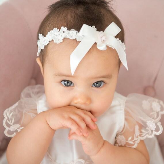Scarlett Baby Headband Lace Baby Headband Ivory Lace Girls  41e809764ba