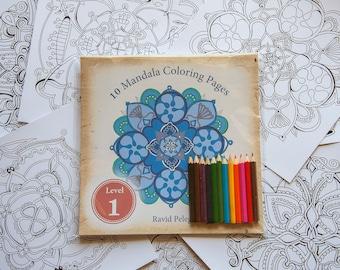 10 Mandala Adult Coloring Book Mandalas Pages Books Colouring
