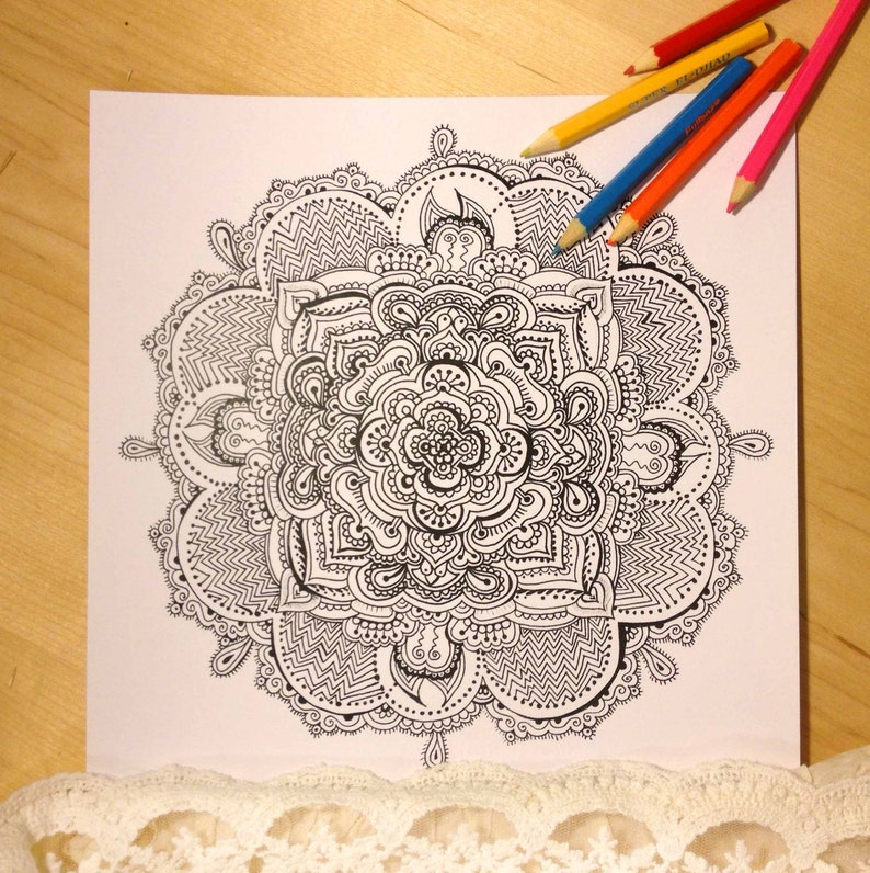 970 Mandala Coloring Pages Download  Images