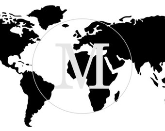 World map stencil etsy world map furniture or wall stencil 3 different sizes gumiabroncs Image collections