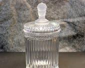 Three Face American Victorian Neoclassic Glass Jar Cigar Humidor - OTH10093