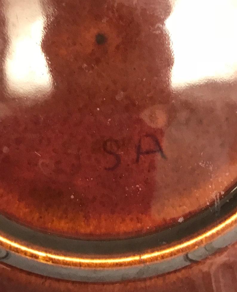 Vintage Brown Drip Pottery Dessert Plates OTH10391