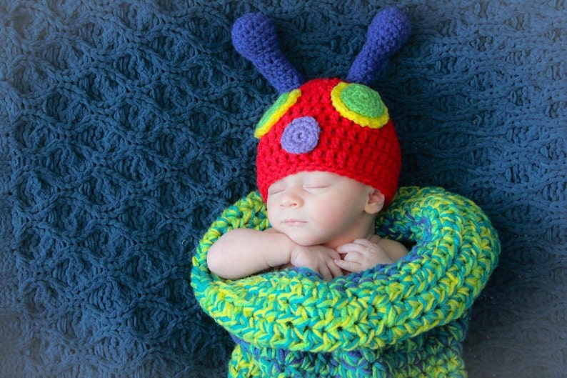 a675b7df8 Crochet hungry caterpillar cocoon - newborn cocoon - baby cocoon - crochet  newborn photo prop - baby boy photo prop - baby girl photo prop