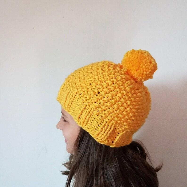 adult winter hat knit women/'s hat knit men Knitted hat gender neutral hat yellow winter hat knitted winter hat kids winter hat
