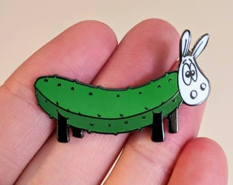 Cucumbaaa!, Cute enamel pin, sheep badge, hard enamel pin, lapel pin, hat pin, funny pin, fun badge, sheep pin, sheep gifts, cute badge