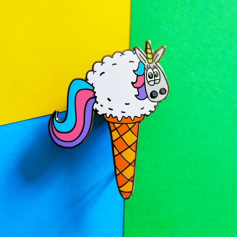 Ewenicone Sheep pin Unicorn enamel pin Cute sheep pin image 0