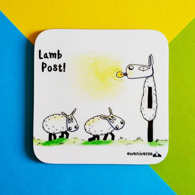 Lamb Post Fun sheep coaster Sheep gift Funny gift sheep image 0