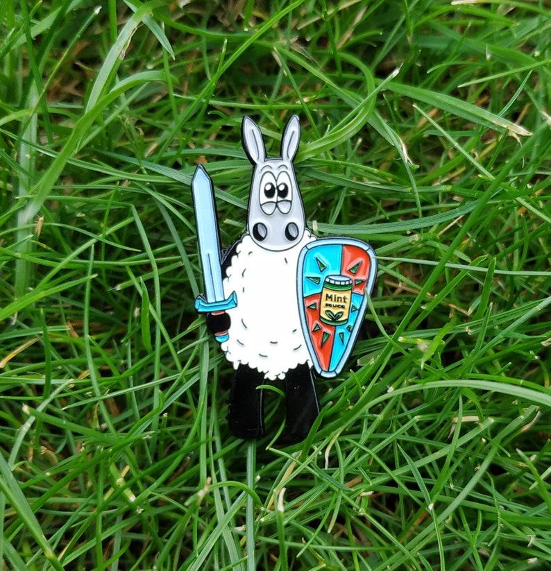 Be Brave  Enamel Pin Sheep pin badge Adventure gift pin image 0