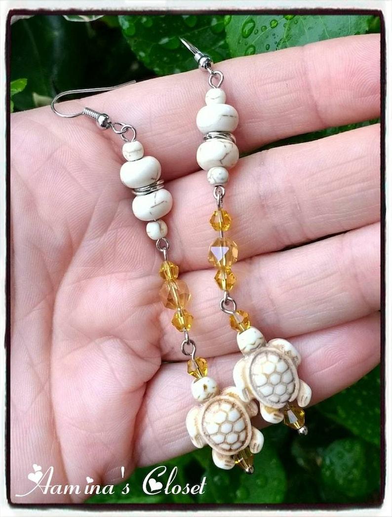 Handmade Handmade Earrings Jewelry Elegant Earrings Handmade Turtle Dangle Earrings Unique Trend