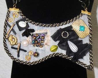 All in one denim necklace jewelry jazz