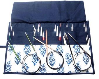 Knitpro knitting needle case, fixed circular knitting needle pouch, knitting needle storage.