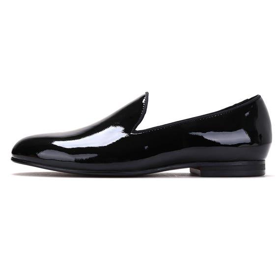 88326f40f389a8 Merlutti Uni Uni Uni noir en cuir verni plat | Des Styles Différents f9c8de