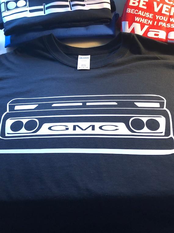 shirt 62 63 64 65 66 1962 1963 1966 GMC logo Truck Suburban c10 front end  Custom made 2 order