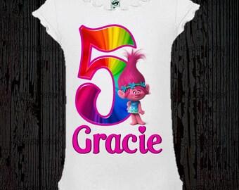 Trolls Birthday Shirt - Poppy Shirt