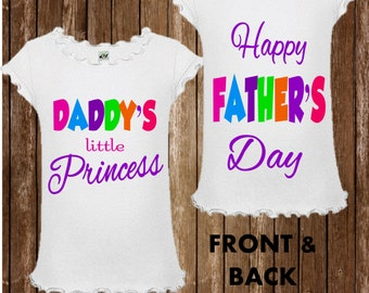 Fathers Day Shirt - Girls Father's Day Shirt - Daddy's Princess