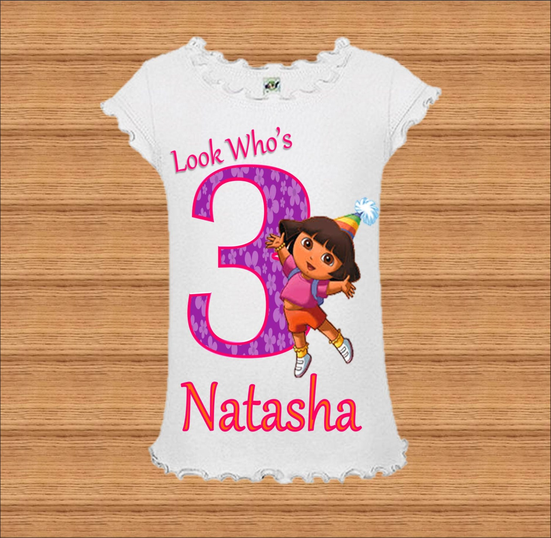 Dora Birthday Shirts For Toddlers