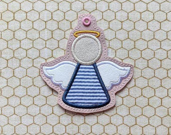 Angel Bookmark / Bag Tag / Ornament - Instant Download Embroidery Machine