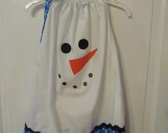 Snowman Dress / Toddler Dress / Pillowcase Dress / Holiday Dress / Winter Dress / Christmas Dress /