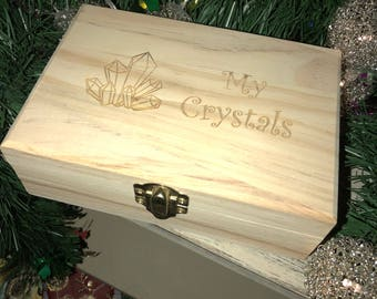 Crystals Box Crystal Storage Box & Crystal storage box | Etsy