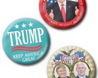 Donald Trump Make America Great Again Button 2.5 inch