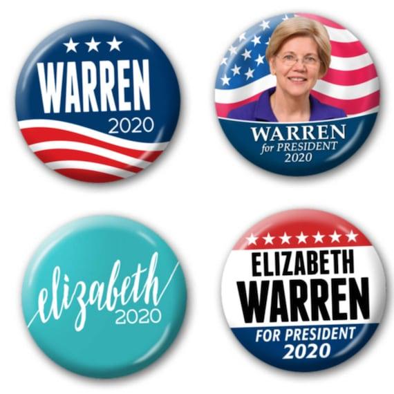 Elizabeth Warren Button Pin Pinback Badge For President 2020
