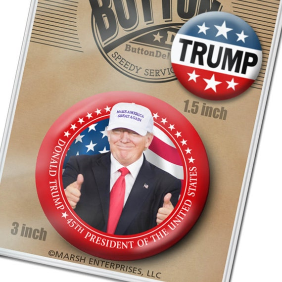 2 Donald Trump Buttons 1.5   3 Photo with Hat  099266d0ae92
