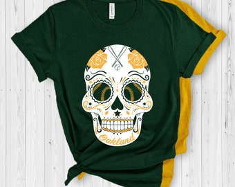7a3951b4 Oakland sugar skull shirt | Oakland baseball shirt | Oakland Baseball tank  top | Oakland baseball sweatshirt | Customize | Size XS-4X