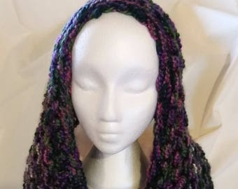 Purple and Green Variegated Shawl