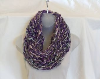 Purple variegated scarf