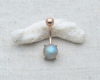 labradorite belly button rings,rose gold belly ringy,navel ring,girlfriend gift