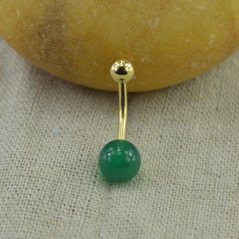 Sale-belly button ring green agate belly button ring,nature stone belly ring,fantastic belly piercing