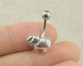 bellybutton rings elephant belly ring belly button jewelry,friendship gift